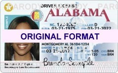 alabama Driver License scannable fake id fake identity fake driver license