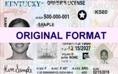 fake id kentucky scannable fake kentucky drivers license