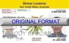 NEW SOUTH WALES DRIVER LICENSE ORIGINAL FORMAT, DESIGN SPECIFICATIONS, NOVELTY SECURITY CARD PROFILES, IDENTITY, NEW SOFTWARE ID SOFTWARE NEW SOUTH WALES driver