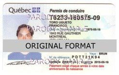 Quebec DRIVER LICENSE ORIGINAL FORMAT, DESIGN SPECIFICATIONS, NOVELTY SECURITY CARD PROFILES, IDENTITY, NEW SOFTWARE ID SOFTWARE