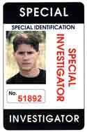 novelty id, novelty id card, driver license novelty SPECIAL INVESTIGATOR  card, new identity software design custom