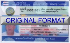 fake THAILAND identity , fake thai  driving license, novelty identity united kingdom, great britian drivers license, thailand driver